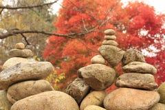 Piedra de la religión del zen Imágenes de archivo libres de regalías