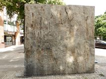 Piedra de la roca de pared en la ciudad Fotos de archivo