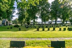 Piedra de la tumba en Suecia Imagen de archivo libre de regalías