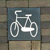Piedra de pavimentación de la bicicleta fotos de archivo