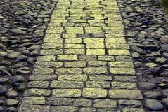 Piedra de pavimentación hacia luz Fotos de archivo