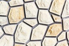 Piedra decorativa de la pared Foto de archivo libre de regalías