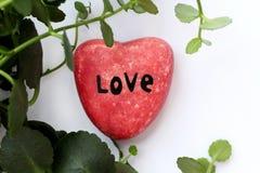 Piedra del 'amor ' Decoración hermosa y diseño lindo foto de archivo libre de regalías