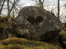 Piedra del amor Fotografía de archivo libre de regalías