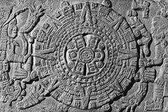 Piedra del calendario Imagenes de archivo