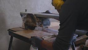 Piedra del corte con la cortadora del chorro de agua almacen de video