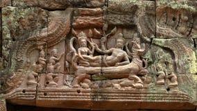 Piedra del dintel en Angkor Wat Foto de archivo libre de regalías