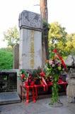 Piedra del entierro de Confucio foto de archivo
