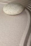 Piedra del jardín de la meditación del zen Imagenes de archivo
