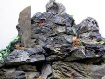 Piedra del jardín del jardín de rocalla Foto de archivo libre de regalías