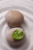 Piedra del jardín del zen Foto de archivo libre de regalías