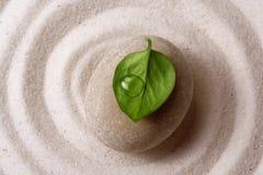 Piedra del jardín del zen Fotografía de archivo