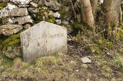 Piedra del límite de Langcliffe del Settle foto de archivo libre de regalías