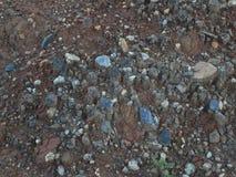 Piedra del material de la textura de la grava del granito Fotografía de archivo