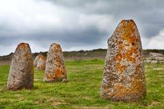 Piedra del megalito de Cerdeña del menhir Foto de archivo