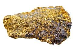 Piedra del mineral de la calcopirita Imágenes de archivo libres de regalías