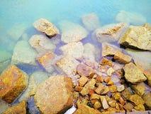 Piedra del océano Foto de archivo libre de regalías
