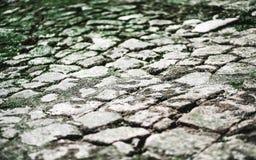 Piedra del pavimento en un terraplén fotografía de archivo