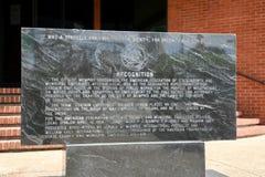 Piedra del reconocimiento en el edificio 1733 de AFSCME Memphis Local Fotografía de archivo libre de regalías