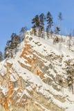 Piedra del rojo de la montaña imagenes de archivo