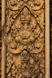 Piedra del templo de Banteay Srei tallada Fotos de archivo libres de regalías