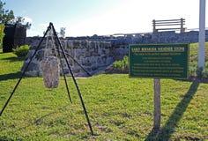 Piedra del tiempo de Bermudas Fotos de archivo