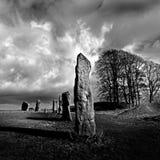 Piedra derecha - monumento neolítico Reino Unido fotografía de archivo
