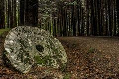 Piedra en el camino Fotos de archivo libres de regalías