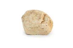 Piedra en el fondo blanco Imágenes de archivo libres de regalías
