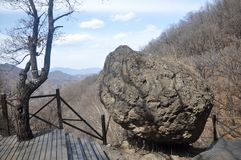 Piedra en el fulcro Fotografía de archivo libre de regalías