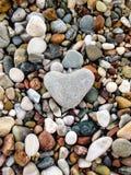 Piedra en forma de corazón Foto de archivo libre de regalías