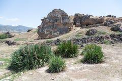 Piedra en Hierapolis Foto de archivo libre de regalías