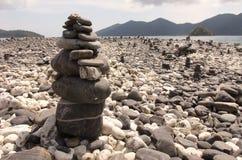 Piedra en la isla Foto de archivo libre de regalías