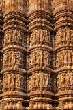 Piedra famosa que talla esculturas de Khajuraho fotografía de archivo libre de regalías