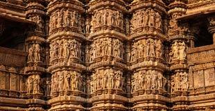 Piedra famosa que talla esculturas de Khajuraho imagen de archivo