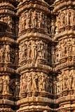 Piedra famosa que talla esculturas de Khajuraho foto de archivo libre de regalías