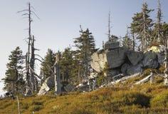 Piedra grande en Kralicky Sneznik Imagenes de archivo