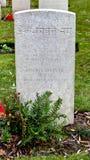 Piedra grave india en el cementerio de WWI, campo de Flandes Foto de archivo libre de regalías