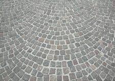 Piedra gris vieja del adoquín Imagen de archivo