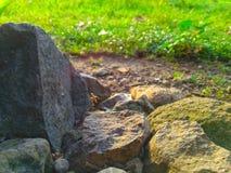 Piedra iluminada Fotografía de archivo libre de regalías