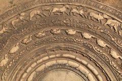 Piedra lunar tallada en Sri Lanka Imagen de archivo