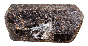 Piedra marrón cristalina del mineral de la turmalina magnesiana del Tourmaline Fotografía de archivo libre de regalías