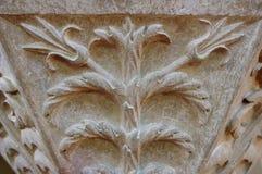 Piedra medieval - motivo tallado Fotografía de archivo