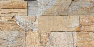 Piedra moderna del multicolor, pared de la piedra arenisca del travertino de la pizarra usada para el fondo Imagen de archivo