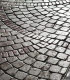 Piedra mojada del adoquín Imagenes de archivo
