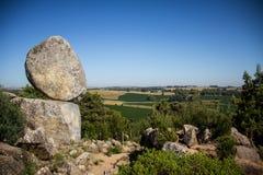 Piedra movediza de Tandil. Tandil, Buenos Aires, Argentina. Moving stone, a famous spot Stock Photo