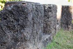 Piedra negra en el jardín Imagen de archivo libre de regalías