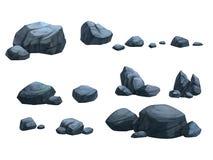 Piedra oscura Fotos de archivo