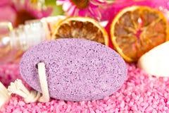 Piedra pómez púrpura bastante pálida Fotografía de archivo