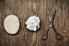 Piedra papel o tijera imagen de archivo libre de regalías